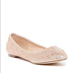 NIB Lauren Lorraine Lizzy Embellished Flat Shoe 6